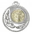 """SALE: Medaille """"Kamiros"""" Ø 50mm mit Wunschemblem und Band - Farbe - silber"""