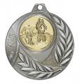 """Medaille """"Vergina"""" Ø 50mm mit Wunschemblem und Band - Farbe - silber"""
