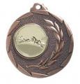 """Medaille """"Cava"""" Ø 50mm mit Wunschemblem und Band - Farbe - bronze"""