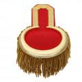 Epauletten gold  (ein Paar) mit Fransen - Farbe - gold-rot