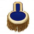 Epauletten gold  (ein Paar) mit Fransen - Farbe - gold-blau