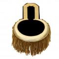 Epauletten gold  (ein Paar) mit Fransen - Farbe - gold-schwarz