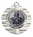 "Medaille ""Hemera"" Ø 50 mm inkl. Wunschemblem und Kordel - Farbe - silber"