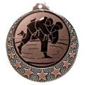 """Judo Medaille """"Brixia"""" Ø 32mm mit Wunschemblem und Band - Farbe - bronze"""