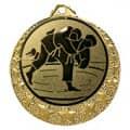 """Judo Medaille """"Brixia"""" Ø 32mm mit Wunschemblem und Band - Farbe - gold"""