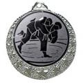 """Judo Medaille """"Brixia"""" Ø 32mm mit Wunschemblem und Band - Farbe - silber"""