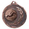 """Reitsport Medaille """"Cava"""" Ø 50mm mit Wunschemblem und Band - Farbe - bronze"""