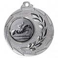 """Reitsport Medaille """"Cava"""" Ø 50mm mit Wunschemblem und Band - Farbe - silber"""
