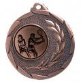 """Tennis Medaille """"Cava"""" Ø 50mm mit Wunschemblem und Band - Farbe - bronze"""