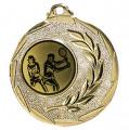 """Tennis Medaille """"Cava"""" Ø 50mm mit Wunschemblem und Band - Farbe - gold"""