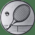 Emblem 25mm Tennisschläger, silber