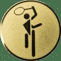 Emblem 25mm Tennis Symbol, gold