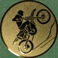 Emblem 25mm Motocross, gold