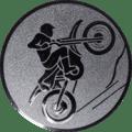 Emblem 25mm Motocross, silber