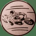 Emblem 25mm Motorradfahrer 1, bronze