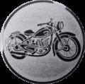 Emblem 25mm Motorrad, silber