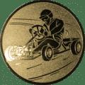 Emblem 25mm Kartfahrer 1, gold