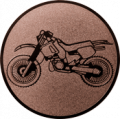 Emblem 25mm Motocross, bronze
