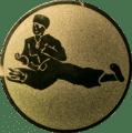 Emblem 25 mm Karatekämpfer, gold