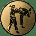 Emblem 25 mm 2 Karatekämpfer, gold