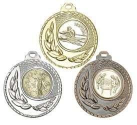 """SALE: Medaille """"Kamiros"""" Ø 50mm mit Wunschemblem und Band"""