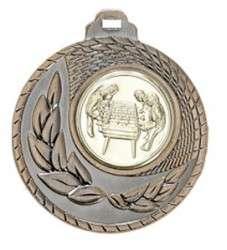 """SALE: Medaille """"Kamiros"""" Ø 50mm mit Wunschemblem und Band bronze"""