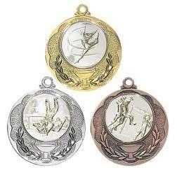 """Medaille """"Knossos"""" Ø 40mm mit Wunschemblem und Band"""