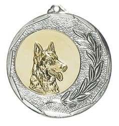 """Medaille """"Singos"""" Ø 40mm mit Emblem und Band silber"""