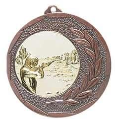 """Medaille """"Singos"""" Ø 40mm mit Emblem und Band bronze"""