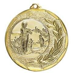 """Medaille """"Singos"""" Ø 40mm mit Emblem und Band gold"""