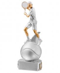 Trophäe Tennisspieler auf Ball FS72521 silber