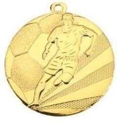 """Medaille """"Fußball"""" Ø 50mm mit Band"""