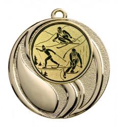 """Medaille """"Brontes"""" Ø 45 mm inkl. Wunschemblem und Kordel gold"""
