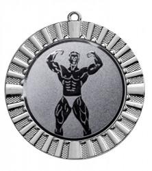 """Medaille """"Steropes"""" Ø 70 mm inkl. Wunschemblem und Kordel silber"""