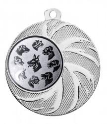 """Medaille """"Arges"""" Ø 45 mm inkl. Wunschemblem und Kordel silber"""