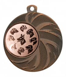 "Medaille ""Arges"" Ø 45 mm inkl. Wunschemblem und Kordel bronze"