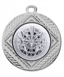 "Medaille ""Pontos"" Ø 40 mm inkl. Wunschemblem und Kordel silber"