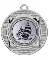 "Medaille ""Nereus"" Ø 50 mm inkl. Wunschemblem und Kordel silber"