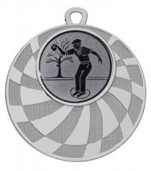 "Medaille ""Phorkys"" Ø 50 mm inkl. Wunschemblem und Kordel silber"