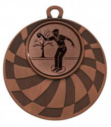 "Medaille ""Phorkys"" Ø 50 mm inkl. Wunschemblem und Kordel bronze"