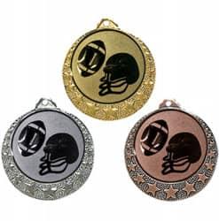 "Football Medaille ""Brixia"" Ø 32mm mit Wunschemblem und Band"