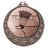 """Badminton Medaille """"Brixia"""" Ø 32mm mit Wunschemblem und Band bronze"""