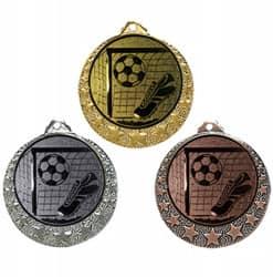 """Fußball Medaille """"Brixia"""" Ø 32mm mit Wunschemblem und Band"""