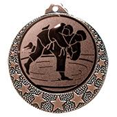 """Judo Medaille """"Brixia"""" Ø 32mm mit Wunschemblem und Band bronze"""