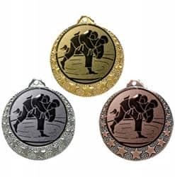 """Judo Medaille """"Brixia"""" Ø 32mm mit Wunschemblem und Band"""