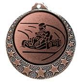 """Kart Medaille """"Brixia"""" Ø 32mm mit Wunschemblem und Band bronze"""