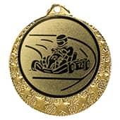 """Kart Medaille """"Brixia"""" Ø 32mm mit Wunschemblem und Band gold"""
