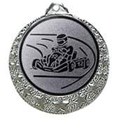 """Kart Medaille """"Brixia"""" Ø 32mm mit Wunschemblem und Band silber"""