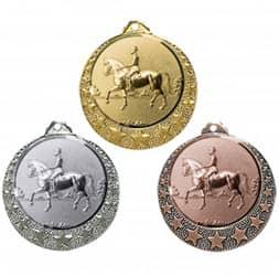 """Reitsport Medaille """"Brixia"""" Ø 32mm mit Wunschemblem und Band"""