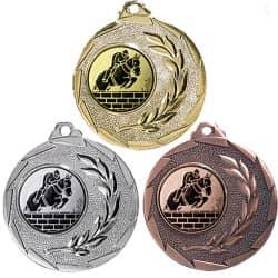 """Reitsport Medaille """"Cava"""" Ø 50mm mit Wunschemblem und Band"""